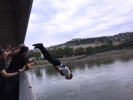 Bratislava Stags Bridge Swinging Matt Bartley